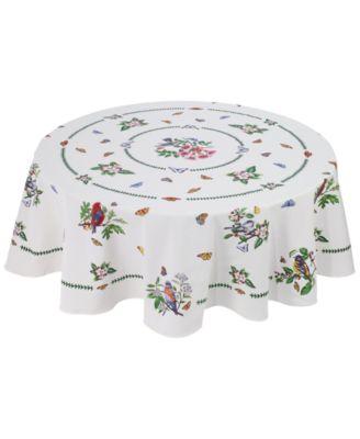 "Botanic Birds 70"" Round Tablecloth"