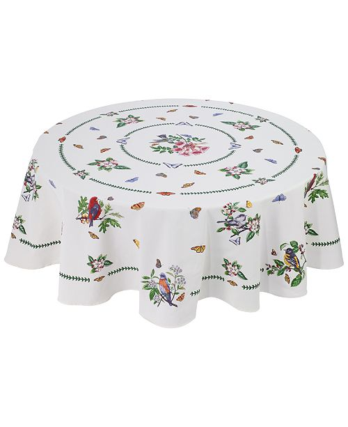 "Avanti Portmeirion Botanic Birds 70"" Round Tablecloth"