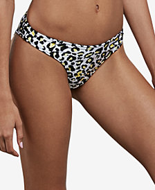 Volcom Seeing Spots Printed High-Leg Bikini Bottoms