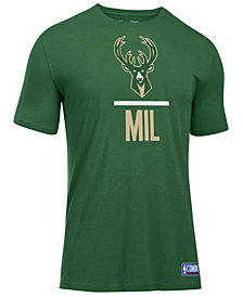 Under Armour Men's Milwaukee Bucks Lockup T-Shirt