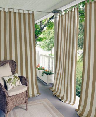 "Elrene Highland Stripe Indoor/Outdoor 50"" x 108"" Panel"