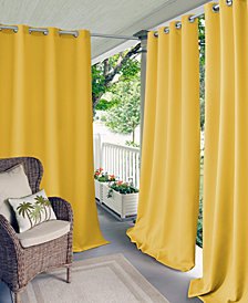 Elrene Connor Indoor/Outdoor Grommet Panel Collection, Water-Repellent and 50+ UV Protection