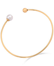 Majorica Imitation Pearl Open Bangle Bracelet