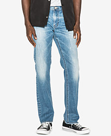 Silver Jeans Co. Men's Allan Straight Fit Faded Jeans