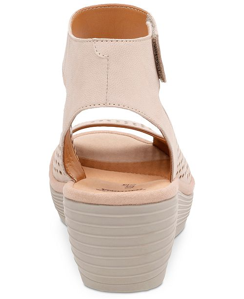 87d7c3f3a4 Clarks Collection Women's Reedly Salene Wedge Sandals & Reviews ...