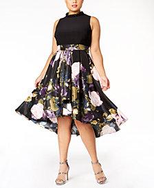 SL Fashions Plus Size Embellished High-Low Dress