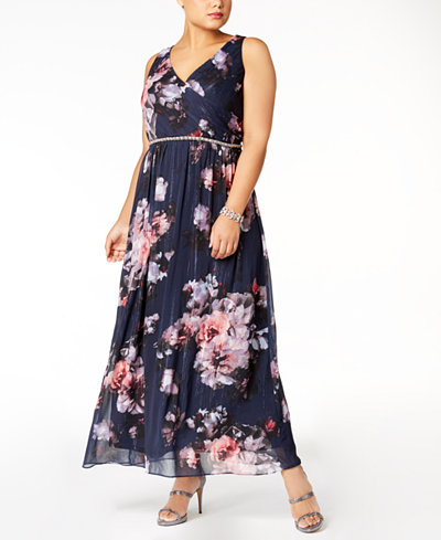 SL Fashions Plus Size Embellished Maxi Dress