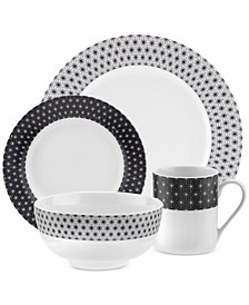 Retrospect 16-Piece Dinnerware Set, Service for 4