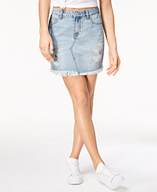 Vanilla Star High-Rise Denim Skirt