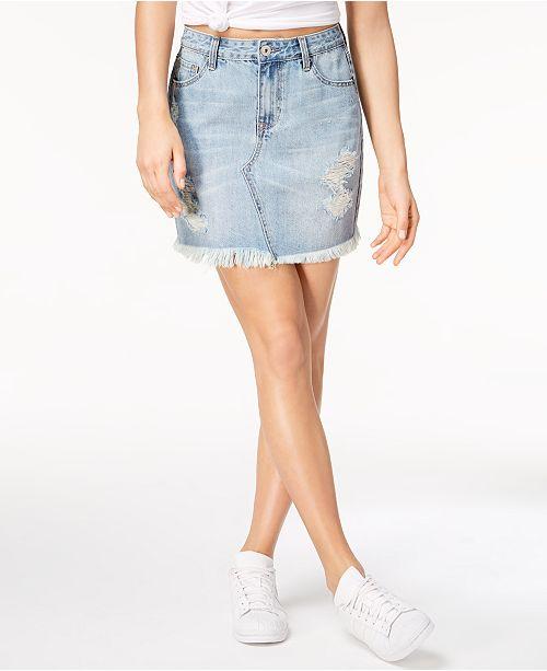 Vanilla Star High-Rise Denim Skirt