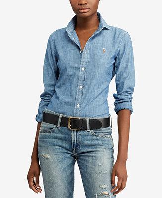 Polo Ralph Lauren Slim Fit Cotton Chambray Shirt Amp Reviews
