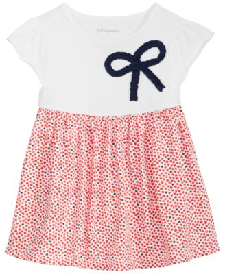 Heart-Print Cotton Tunic, Baby Girls, Created for Macy's