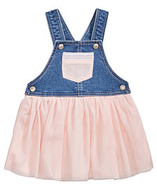 First Impressions Denim & Mesh Jumper, Baby Girls, Created for Macy's