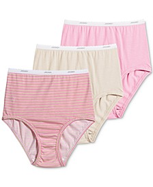 Plus Size Classics Full Cut Brief Underwear 3 Pack 9483