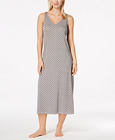 Alfani Honeycomb-Print Nightgown, Created for Macy's