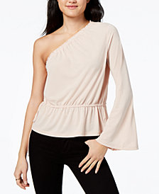 RACHEL Rachel Roy One-Shoulder Bell-Sleeved Top, Created for Macy's