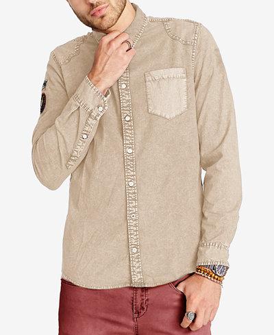 Buffalo David Bitton Men's Patch Denim Shirt