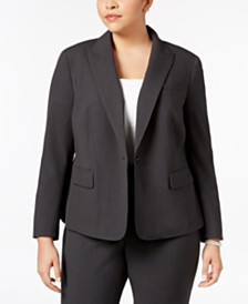 Anne Klein Plus Size One-Button Blazer
