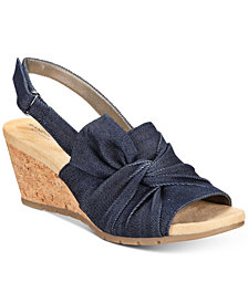 Bandolino Gayla Slingback Wedge Sandals