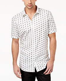 I.N.C. Men's Skull-Print Shirt, Created for Macy's