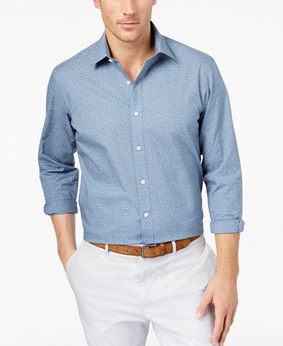 Club Room Men's Dot-Print Shirt, Created for Macy's