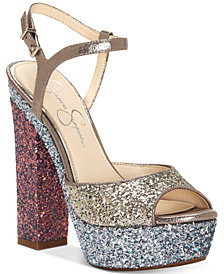 Jessica Simpson Lorinna Platform Glitter Sandals