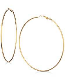 "3 1/4"" Large Hoop Earrings"