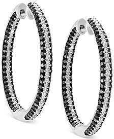 EFFY® Diamond In & Out Hoop Earrings (2 ct. t.w.) in 14k White Gold