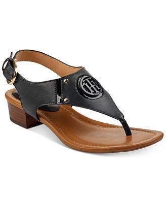 Tommy Hilfiger Kissi Block-Heel Sandals Women's Shoes