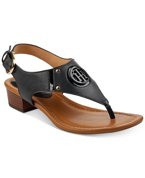 Tommy Hilfiger Kissi Block-Heel Sandals Women's Shoes t3iOc4