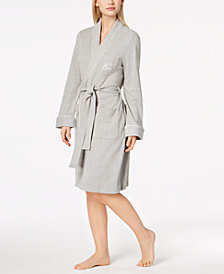 Lauren Ralph Lauren Quilted Shawl Collar Short Robe
