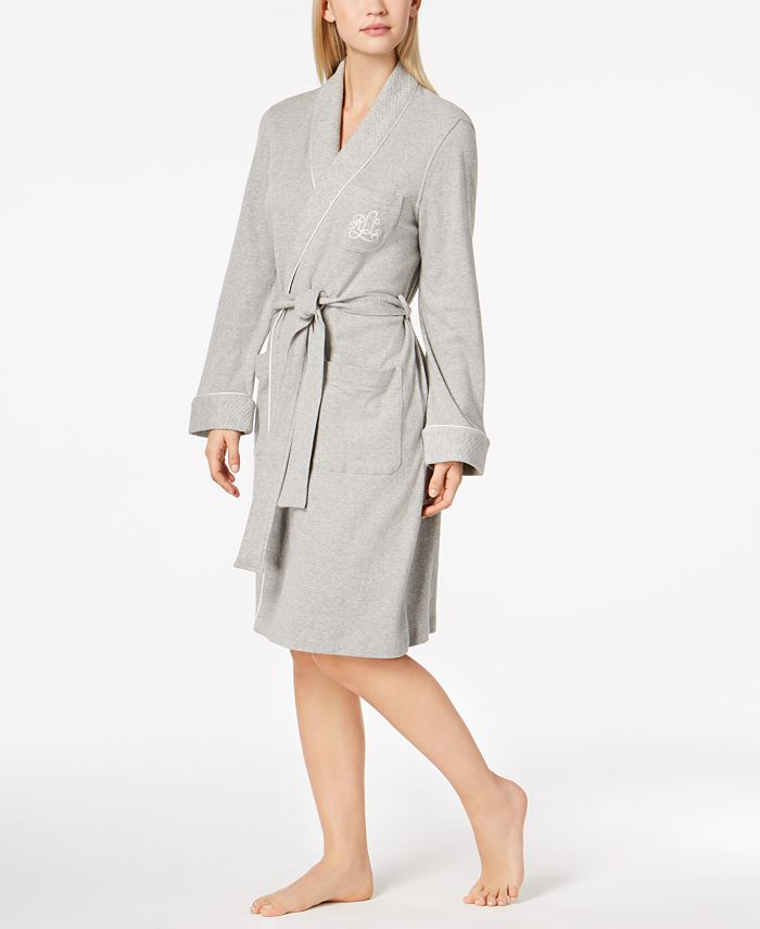 Lauren Ralph Lauren - Short Quilted Shawl Collar Robe
