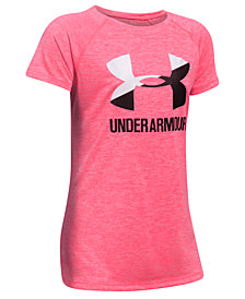 Under Armour Heathered Novelty Big Logo T-Shirt, Big Girls
