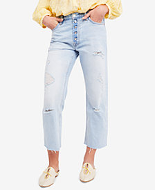 Free People Rolling On The River Cropped Jeans