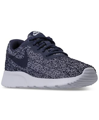 Nike Women's Tanjun Indigo Casual Sneakers from Finish Line