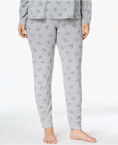 1986d4c83ad7e Jenni by Jennifer Moore Plus Size Printed Jogger Pajama Pants ...