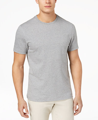Club Room Men's Square Jacquard T-Shirt, Created for Macy's
