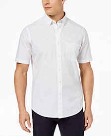 Club Room Men's Dot-Print Cotton Shirt