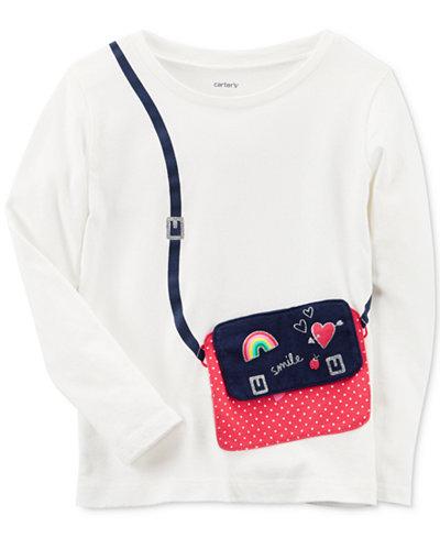 Carter's Long-Sleeve Purse Cotton T-Shirt, Toddler Girls