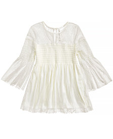 Beautees Smocked Bell-Sleeve Top, Big Girls