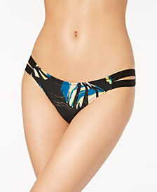 Volcom Lost Marbles Cutout Cheeky Bikini Bottoms
