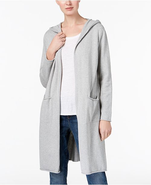 Eileen Fisher Organic Cotton Hooded Cardigan   Reviews - Sweaters ... b05916400