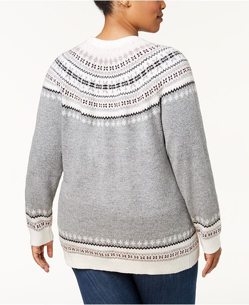 962635bc3f5 Tommy Hilfiger Plus Size Fair Isle Deer-Print Sweater