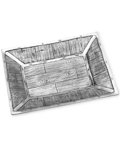 Wilton Armetale Wild Wood Large Rectangular Tray