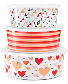 Martha Stewart Collection 3-Pc. Heart Storage Set, Created for Macy's