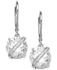 Giani Bernini Cubic Zirconia Wrapped Drop Earrings in Sterling Silver, Created for Macy's