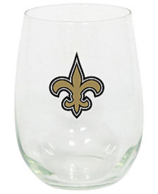 Memory Company New Orleans Saints Stemless Wine Glass