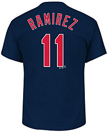 Majestic Men's Jose Ramirez Cleveland Indians Official Player T-Shirt