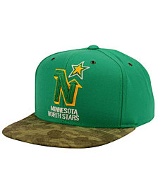 CCM Minnesota North Stars Fashion Camo Snapback Cap