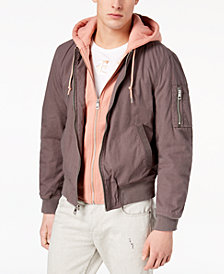 GUESS Men's Boyd Full-Zip Bomber Jacket